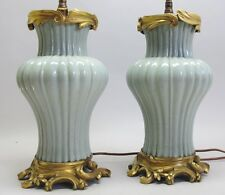Museum Quality 18th C. Chinese Vases w/ French Gilt Bronze Mounts c. 1815 lamp