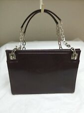 Auth Bally Chain Leather Shoulder Bag Brown