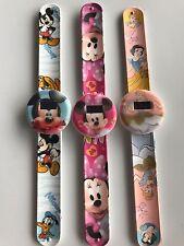1x Children Kid Girl Boy Minnie Mickey Mouse Princess Slap On Snap Wrist Watch