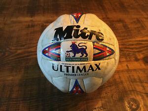 Mitre Ultimax Premier League Arsenal V Bolton 1996 Match Ball Dennis Berkamp