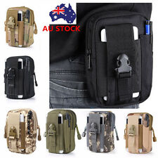 Men Tactical Molle Belt Pack Camping Hiking Waist Bag Army Military Travel Pouch