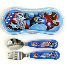 Marvel Avengers Captain America spoon fork case set (standard & sweety)