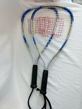 """Lot of 2 (Very Old) Wilson Xpress Racquetball Racquets 3 7/8"""" Pair"""