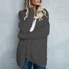 Oversized Womens Long Sleeve Ladies Knitted Sweater Jumper Cardigan Outwear Coat