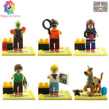 New 6 PCS MiniFigure Cute Scooby Doo Shaggy Fred Velma Daphne Building Toy Gifts