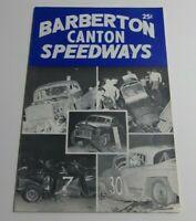 Barberton Canton Speedways Racing Program Written In Collectible Vintage 1960s