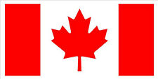 "#542 Canada Canadian Flag 4"" x 2"" Decals Stickers Vinyl Outdoor LAMINATED"