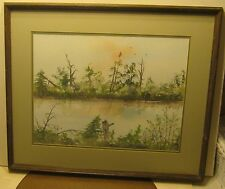 Wonderful Watercolor Landscape by CARL GRIFFIN Dated 1979 with BIO on Back!!