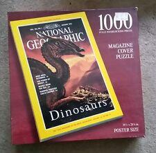 National Geographic Magazine Cover 1000 pc Puzzle: Dinosaurs 1993 NIB 19.5X28.25