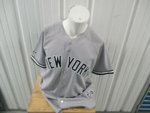 VINTAGE MAJESTIC NEW YORK YANKEES STEVE KARSAY #31 SEWN XL AWAY JERSEY PREOWNED