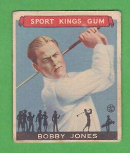 1933 Goudey Sport Kings Gum #38 Bobby Jones - Golf