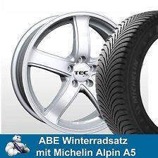 """16"""" ABE Winterräder Winterreifen 205/55 Michelin Alpin A5 - Alufelgen TEC AS1 SL"""