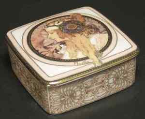Goebel Artis Orbis- Alphonse Mucha Blonde Woman-Square Box Medium - Boxed