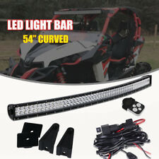 54'' Inch 312W CREE LED Bar Combo Beam Curved Work Light for 4WD Pickup Rv Utv