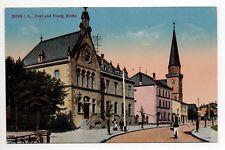 DIEUZE DUSS Moselle CPA 57 la poste carte couleur