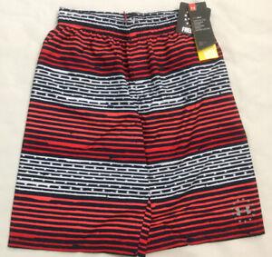NWT Boy's Under Armour Swim Board Shorts Trunks Large 27I66011 MSRP $40 UPF 50+