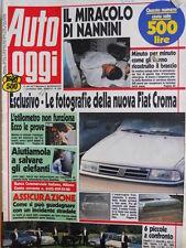 Auto OGGI n°204 1990 Incidente Nannini - Test Festa 1.1 Uno 60 Corsa 1.2  [Q200]