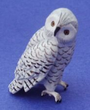 Miniature Dollhouse Snowy Owl 1:12 Scale New