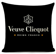 Kissenhülle Kissenbezug Baumwolle Motivkissen Champagner Veuve Cliquot Logo