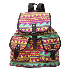 Women Rucksack Shoulder Bag Bookbags School Satchel Travel Sport Canvas Backpack