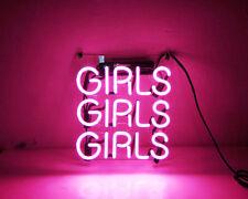 "New Girls Girls Girls Bar Light Lamp Artwork Handmade Acrylic Neon Sign 10"""