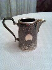 Antico John Henry Potter crema di latte brocca per acqua-SILVER PLATE Sheffield