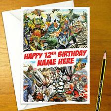 ULTRA MONSTERS Personalised Birthday Card - A5 kaiju godzilla ultraman