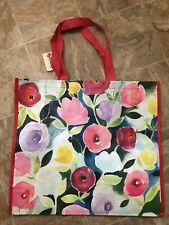 NEW TJ MAXX Floral Shopping Bag Reusable Travel Tote Eco Friendly