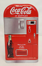 2003 Coca Cola in Bottles COKE VENDING MACHINE Collectible Tin Hinged Box