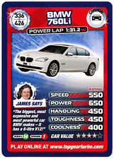BMW 760Li #336 Top Gear Turbo Challenge Trade Card (C362)