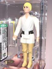 AFA 85+ Star Wars 1977 Loose Luke Skywalker Farmboy Blonde Hair Light Pants Mint