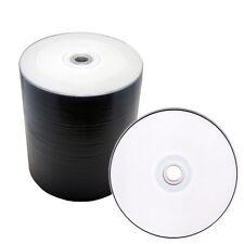 100 PK White Inkjet HUB Printable DVD-R 16x Blank Disc