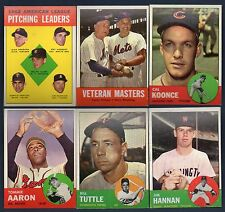 1963 Topps Baseball Finish Your Set Pick 10 Cards EX-MT to NM Revised