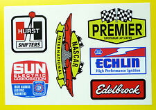 HOT ROD Retro vintage Sticker Decal Ford Chevy Drag Race Speed TOOL BOX (SET 2)