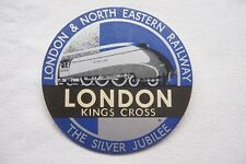 London Paris Night Ferry to Brussels Original Railway Luggage Label
