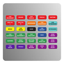 AUX Section Magnetic Labels for Midas Venice F / U mixers (expansion pack)