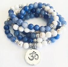 Aventurine/Howlite Natural beads 8mm mala cuff bracelet 108 men yoga meditation