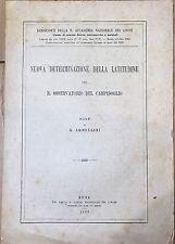321) Libro Astronomia Armellini Nuova determinazione della latitudine Roma 1920