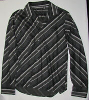 KENNETH COLE Men's Striped Shirt SIZE XXL Gray NWOT Long Sleeve