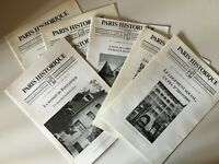 7x Revue PARIS HISTORIQUE Sauvegarde et mise en valeur du patrimoine 1997-2000