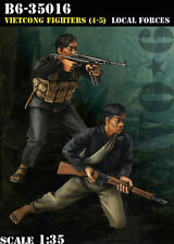 Bravo6 1:35 Viet Cong Fighter #4-5 Local Forces Vietnam 2 Resin Figures B6-35016