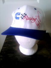 Vintage Embroidered Cummins C Racing Signed Two Drivers Trucker Hat White Blue