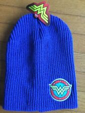 DC Comics Wonder Woman Knitted Winter Beanie Hat Cap Blue stocking hat
