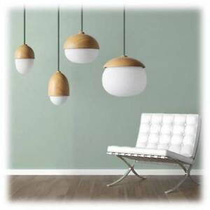ACORN, Nut Pendant Light Range, Wood Look, Grey, Copper