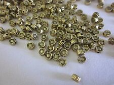 50 Antique Gold 5x3mm Sunflower Spacer Beads #sp3434 Combine Post-See Listing