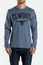 20% Off Elwood Mens Milennial Bull Cotton Crew L/Sleeve Basic T-Shirt Tee SZ S-L