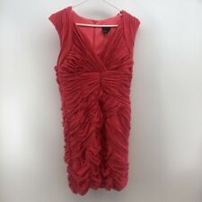 Venus Womens Bodycon Dress Pink Ruched Mini V Neck Sleeveless Cocktail Party L