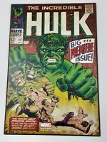 Marvel Comic Book Hulk Big Premier Issue Wood Wall Art Plaque 13 x19 inches