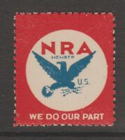 USA revenue fiscal stamp 7-18-20- NRA mnh gum