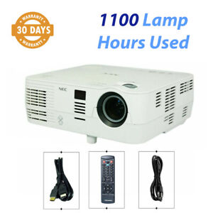 NEC VE281X DLP Projector NP-VE281X 3D 2800 Lumens HD - 1100 Lamp Hours Used